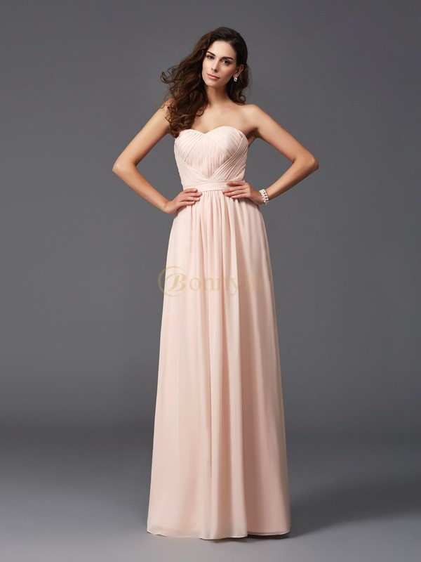 Chiffon Sweetheart A-Line/Princess Floor-Length Bridesmaid Dresses
