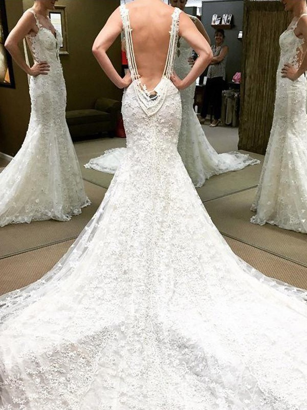 Ivory Lace Off-the-Shoulder Ball Gown Floor-Length Wedding Dresses