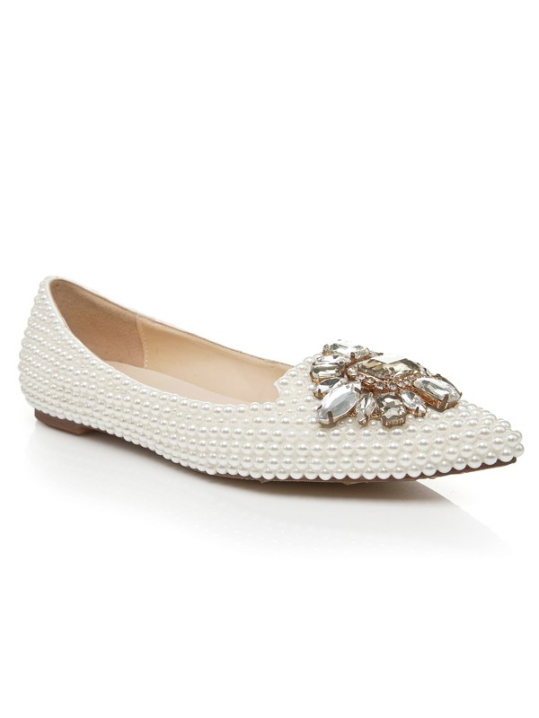 Bonnyin Rhinestone Buckle Flat Shoes