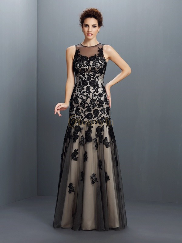 Champagne Satin Bateau A-Line/Princess Floor-Length Dresses