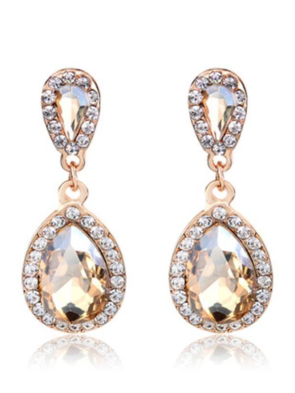 Vintage Alloy With Rhinestone Women Earrings