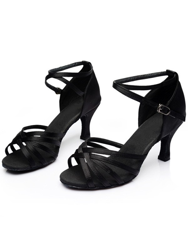 Women Leatherette Kitten Heel Peep Toe Sandals