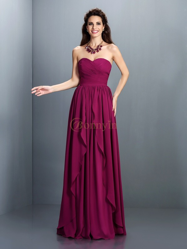 Regency Chiffon Sweetheart A-Line/Princess Floor-Length Dresses