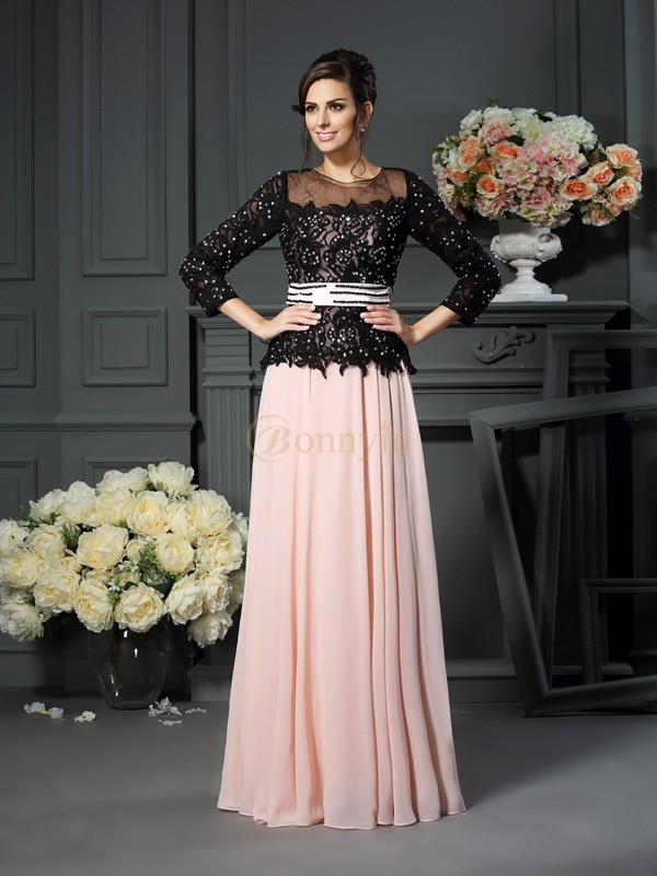Pearl Pink Chiffon Sweetheart A-Line/Princess Floor-Length Mother of the Bride Dresses